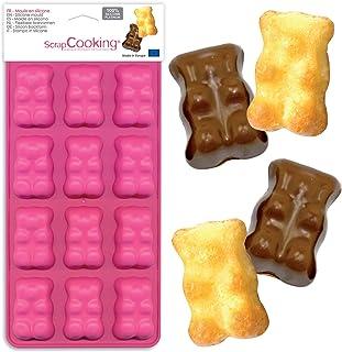 SCRAP COOKING 6723 Moule en Silicone Oursons Guimauve, 12 Formes pour Chocolat & Gâteaux, Ustensile Souple Pâtisserie, Apt...