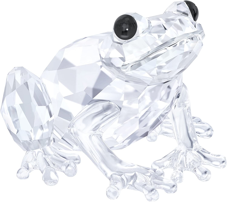 Swarovski Frog Figurine, Crystal, Transparent, 2.5?x 3.6?x 3.7?cm