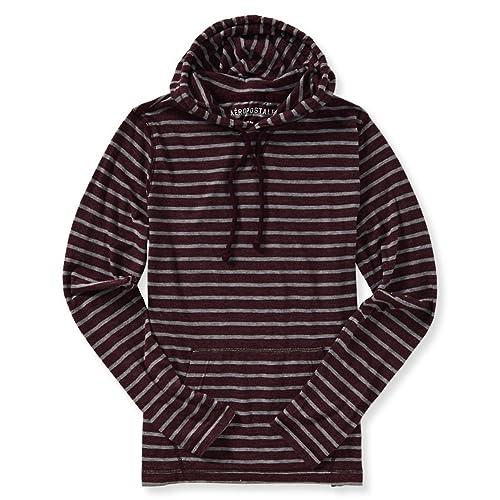 Aeropostale Mens Thin Striped Hoodie Sweatshirt