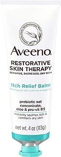 Aveeno Restorative Skin Therapy Itch Relief Body Balm for Sensitive, Distressed, Dry Skin, With Prebiotic Oat & Pramoxine ...