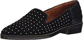 Suede Slippers Decorated with Studs