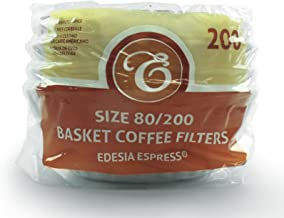 200 x 2 Pint / 8 to 12 Cup Basket Cupcake Coffee Filter Papers by EDESIA ESPRESS