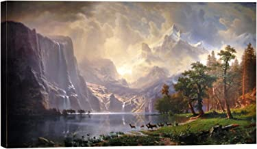Eliteart-Among The Sierra Nevada Mountains, California (1868), by Albert Bierstadt Oil Painting Reproduction Giclee Wall Art Canvas Prints