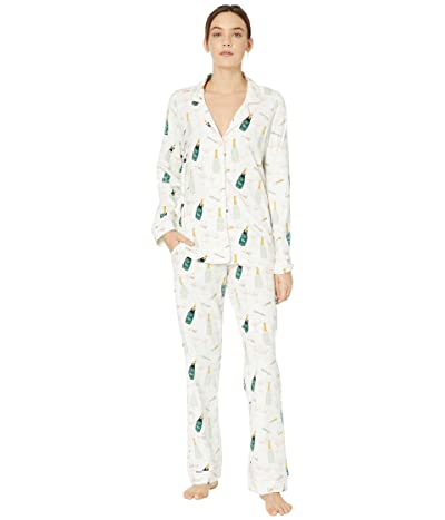 BedHead Pajamas Long Sleeve Classic Notch Collar Pajama Set (Cheers) Women