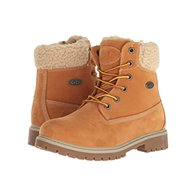 Lugz Rucker Hi Fleece (Golden Wheat/Cream/Gum) Women