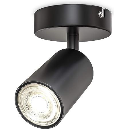 B.K.Licht I Spot plafond I pivotant I orientable I GU10 I noir-mat I livré sans ampoule