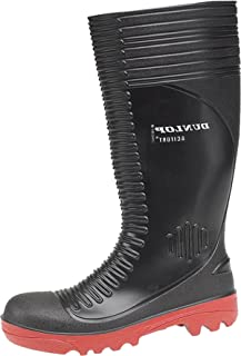 Dunlop Acifort A252931 Ribbed Full Safety Wellington / Mens Boots