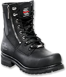 Milwaukee Motorcycle Clothing Company Trooper Leather Men's Motorcycle Boots (Black, Size 12D)