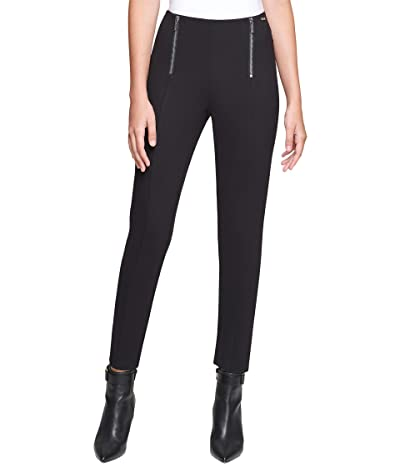 Calvin Klein Leggings with Zip Detail (Black) Women
