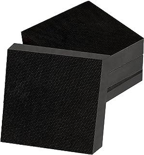 SHHMA Tapis Anti Vibration Bloc en Caoutchouc Tampons De Rondelle Appareils Électroménagers Antichocs, 100Mm X 100Mm X 20M...
