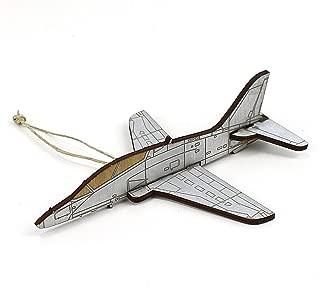 Wooden T-45 Goshawk jet Christmas ornament