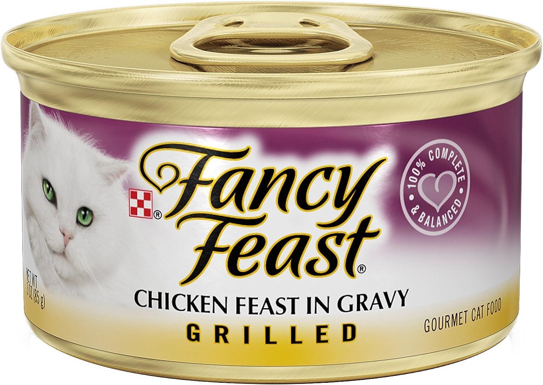 Fancy Feast Grilled Chicken Feast In Gravy Canned Cat Food 24 -