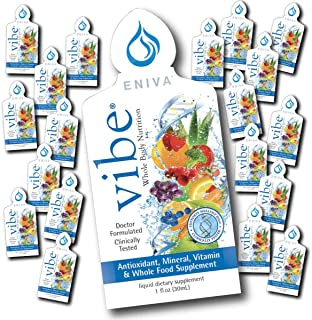 Liquid Vitamins and Minerals   Dr. Formulated for Maximum Absorption   Eniva Vibe Immune Daily (1 Box of 20 on-The-go Pack...