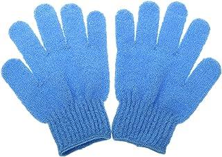 1 Par De Masaje Exfoliante De Ducha Del Baño Guante De Cuidado De La Piel Lavador Azul Limpio - Azul