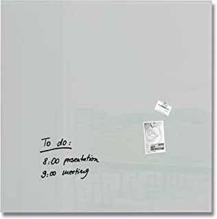 SIGEL GL203 Lavagna magnetica di vetro/bacheca di vetro Artverum, grigio, 100 x 100 cm
