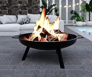 Outdoor Fire Pit 90cm Portable Fireplace Heater Garden Patio Fire Bowl, Black