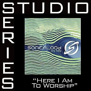 Here I Am To Worship - Medium key performance track w/ background vocals [Original Key]