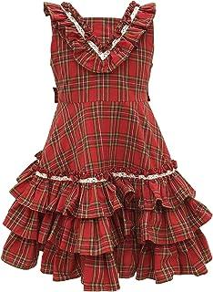 天使のドレス屋さん パーティー 子供服 チェック柄 110cm-150cm