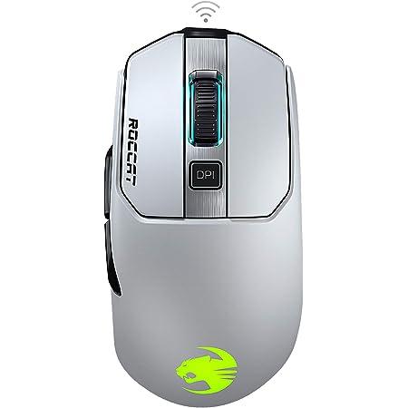ROCCAT Kain 202 ワイヤレス Titanクリック RGB ゲーミングマウス (光学式 Owl-Eye 16K, サイドボタン, 無線) ホワイト (国内正規品) ドイツデザイン&エンジニアリング ROC-11-615-WE