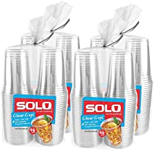 Solo Cup Clear Recycled Pet Plastic Party Cups, 18 Oz, 184Count