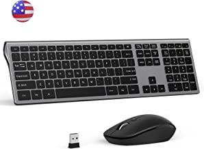 Wireless Keyboard and Mouse Combo- Seenda Wireless Ergonomic Keyboard 110 Keys Full-Size Keyboard Compatible with Windows PC, Laptop and Android TV