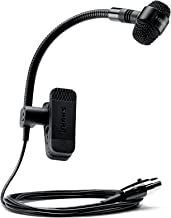 Shure PGA98H-TQG Cardioid Condenser Gooseneck Instrument Microphone with TA4F Connector for use with Wireless Systems