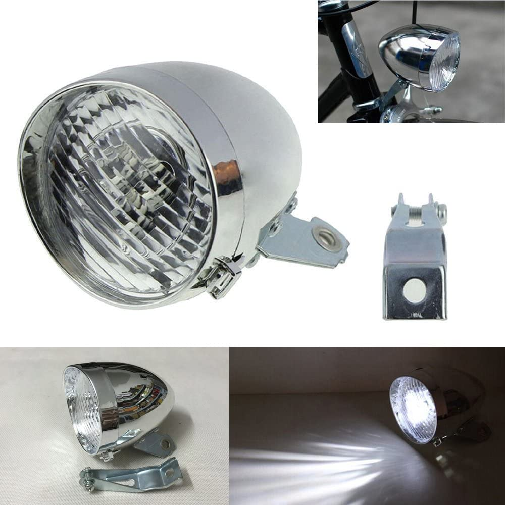 GOODKSSOP 3 LED Classical Cool Challenge the lowest price of Japan Ligh Vintage Silver Front Direct stock discount Cycling