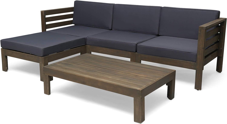 Christopher Knight Home Alice Outdoor 5 Oklahoma City Mall S Acacia Piece Popularity Sofa Wood