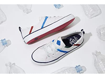 Sperry Josie Dunne Crest Vibe Bionic(r) (White/Blue/Red) Women