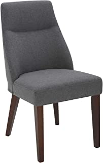 "Amazon Brand – Rivet Phinney Contemporary Upholstered Dining Chair, 19.7""W, Graphite"