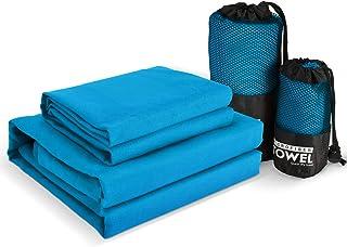 WATSABR Handtuch-Mikrofaser Handtücher, 2 Größen - kompakt, Ultra leicht & schnelltrocknend Handtücher,Perfekte Sporthandt...