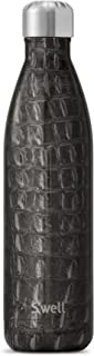 S'well Vacuum Insulated Stainless Steel Water Bottle, 25 oz, Black Croc