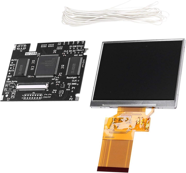 Tamkyo High-Brightness Full-Screen V2 High material LCD NEW before selling for Game G SEGA Screen