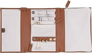 (Triple 21cm 16cm 3cm, Brown) - PU Leather Travel Jewellery Case - Jewellery Organiser by Case Elegance (Triple 21cm 16cm 3cm, Brown)