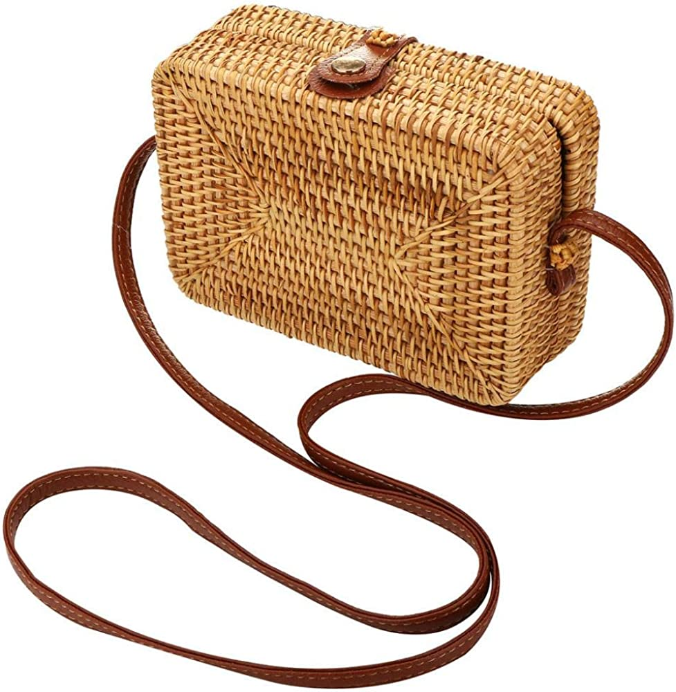 Rattan sold out Shoulder Bag Exquisite Handwoven Summer Crossbody Popular shop is the lowest price challenge Sho