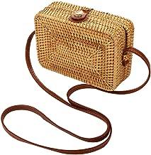 Rattan Shoulder Bag Exquisite Handwoven Crossbody Bag Summer Shopper Handbag for Beach Travel and Daily Use