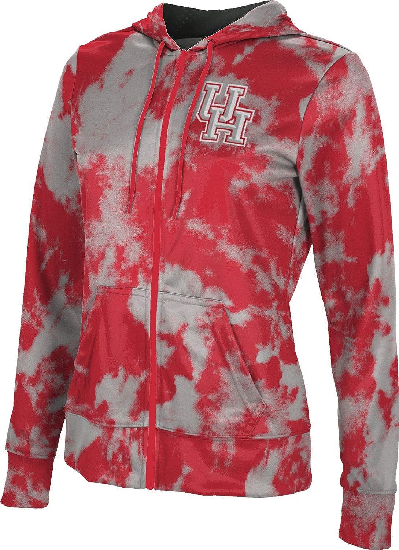 ProSphere University of Houston Girls' Zipper Hoodie, School Spirit Sweatshirt (Grunge)