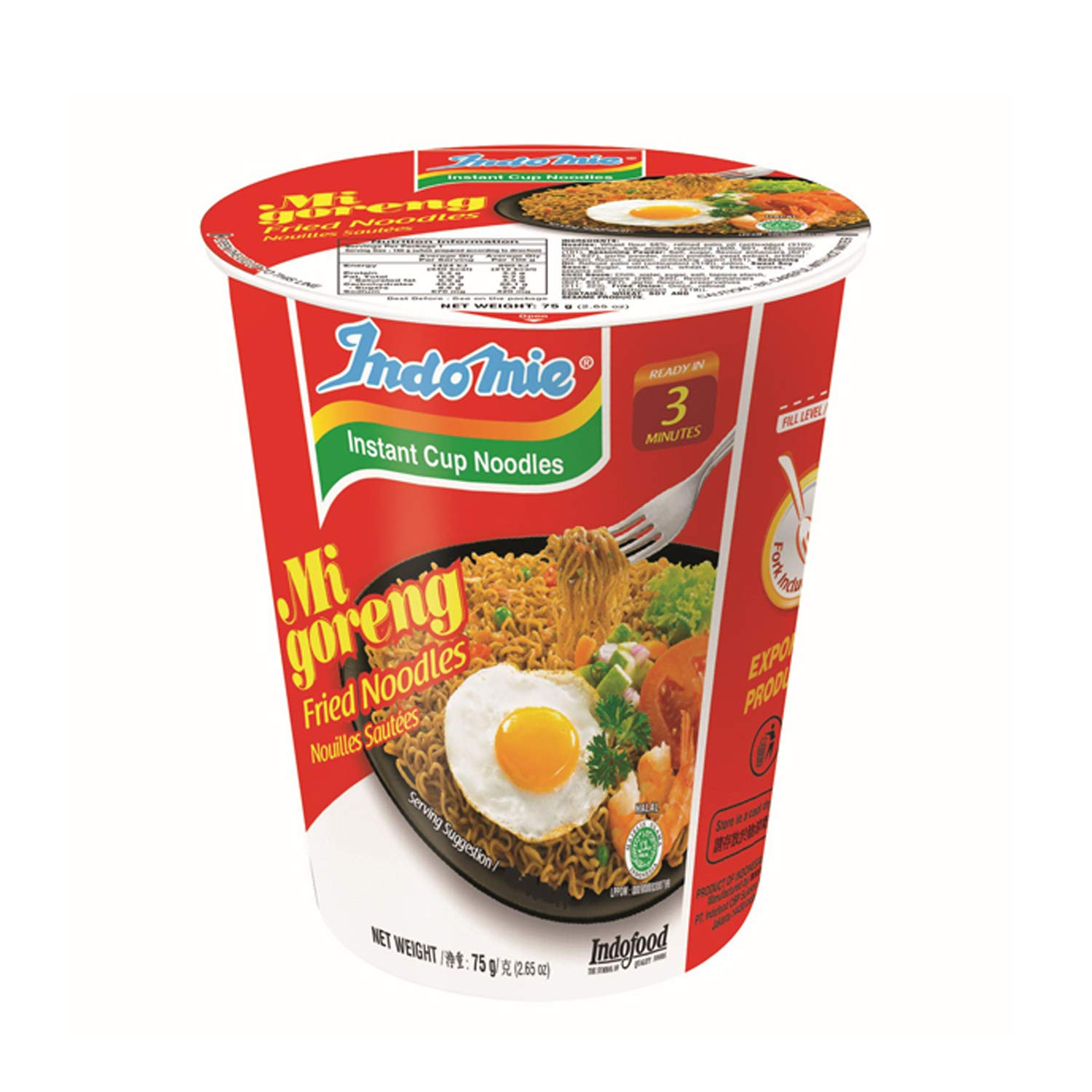 Indo Mie It is very popular Goreng Cup 2.65 Pack 12 of Houston Mall Ounce