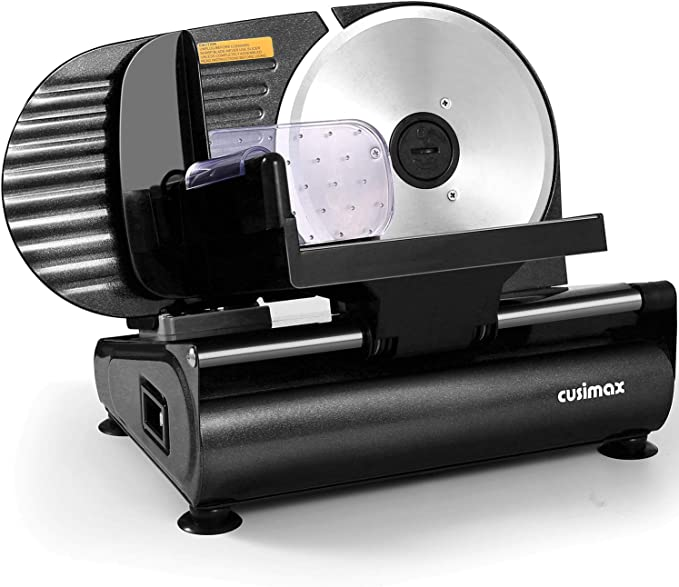 CUSIMAX 200W Electric Deli Food Meat Slicer - Best for Smooth Cuts