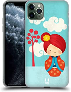 Head Case Designs Hana Japanese Doll Soft Gel Case Compatible for iPhone 11 Pro Max