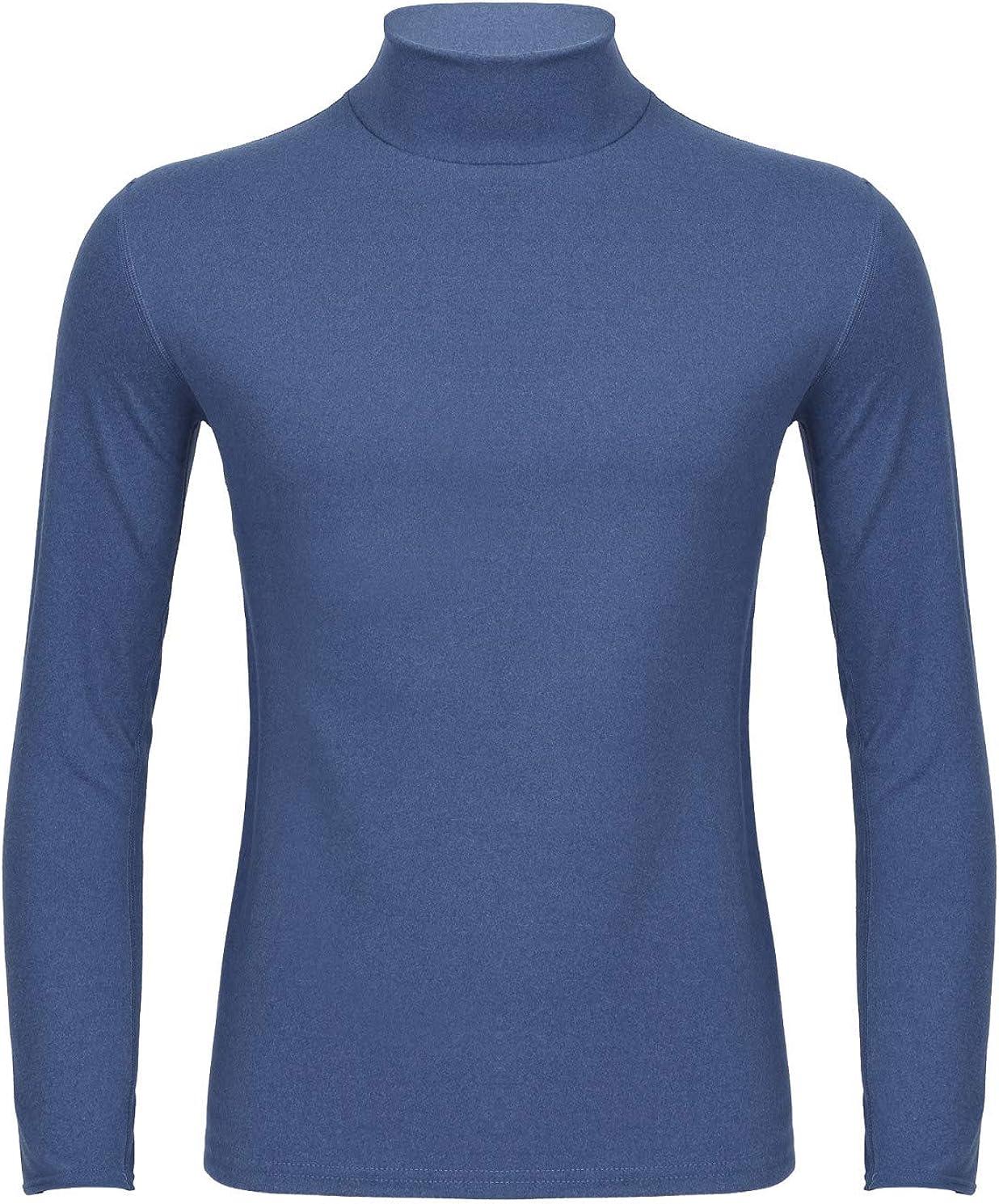 iiniim Thermals for Men Cold Weather Long Sleeve Turtle Mock Neck Undershirt Base Layer Shirts