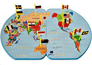 Board Games for Kids - Educational Toys – National Geographic Kids – Map of the World – Flags - Toys for Kids ages 4 – 10 ...