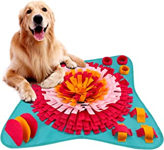 FREESOO Snuffle Mat for Dogs Feeding Mat Interactive Puppy Puzzle Toy Pet Nosework Training Play Mats for Stress Relief