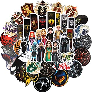 Ratgoo 100 Pcs Waterproof Vinyl Stickers of TV Series Game of Thrones Vinyl Stickers to Boys Teens Kids Men Adult for Laptop Water Bottle Computer Mac Phone Case Hydro Flask Car Skateboard Luggage