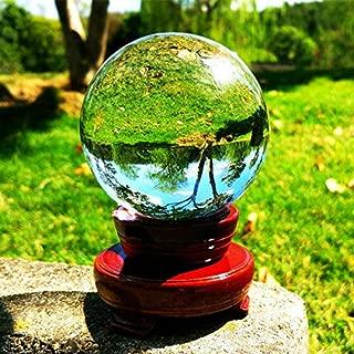 SunAngel Photo Crystal Ball,Optical Glass Spheres, K9 Crystal Sphere Ball, LensBall Crystal Photography Ball&Art Decor Crystal Orb(80MM with Stand)