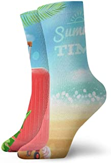 Travel Suitcase Background Cushion Basketball Athletic Outdoor Compression Crew Sock,Men's Youth Socks