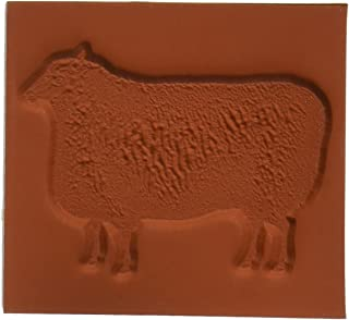 Deep Red Stamps Wooly Sheep Rubber Stamp