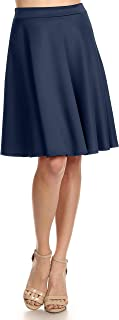 Women's Midi Skater Skirt Flared Stretch Skirt for Women - Made in USA