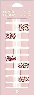Gel Nail Strip by Gelato Factory - Ultra Shine 10 Minute Nail No Glue No Soak Off (Bubble Pop Pink)