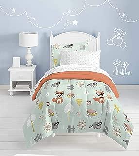 dream FACTORY Casual Woodland Friends Comforter Set, Twin, Green
